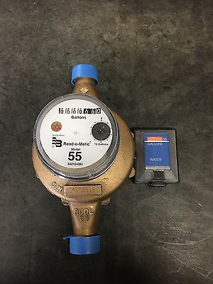"""Badger 1"""" M55 GALLON Water Meter Pulse Register And Remote"""
