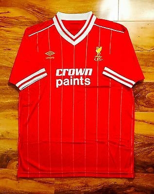 Liverpool FC Retro 1983 Repro Home Football Shirt Mens Size L
