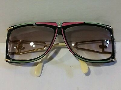 VINTAGE CAZAL BEAUTIFUL COLORFUL SUNGLASSES with CASE
