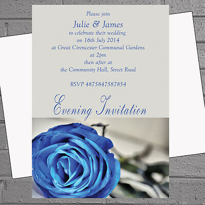 Personalised Winter Wedding Invitations Day Evening Party x12 envs H0820