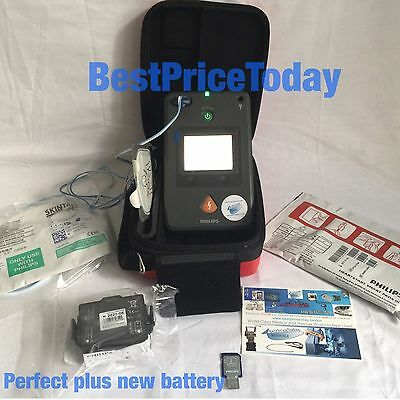 Philips HeartStart FR3 AED NEW Battery NEW Pads Electrodes 861388 UK DHL Express