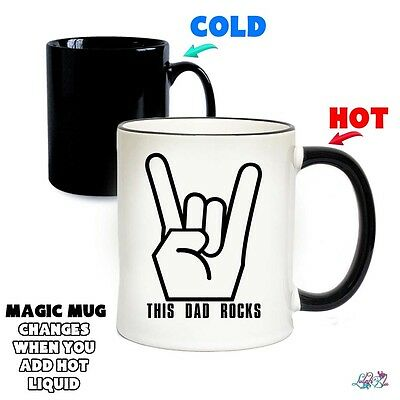 This DAD Rocks Magic Mug | Colour Changing Mugs | Funny | Father's Day Gifts