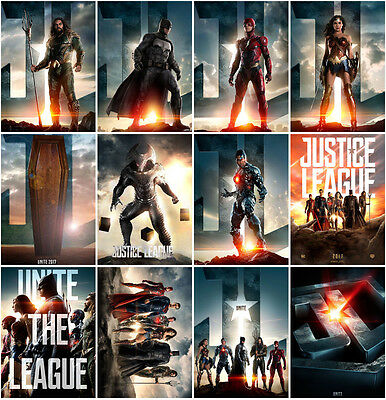 12pc Justice League 2017 Part One Mortal Postcard Promo Card Photo Poster Card B