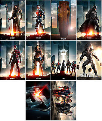 10pc Justice League Movie 2017 Part One Mortal Promo Card Photo Card Stickers A