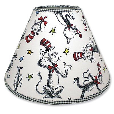 Cat In the Hat Lampshade Trend Lab Dr Seuss Nursery Kids Bedroom Decor Shade New