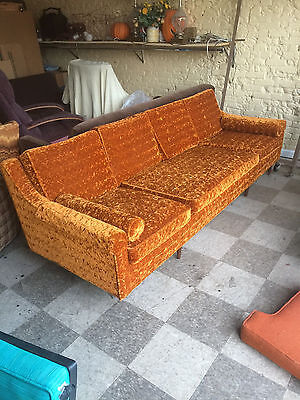 BUY AS IS, OR REUPHOLSTER!  Mid Century Modern, Retro, Vintage Sofa Couch