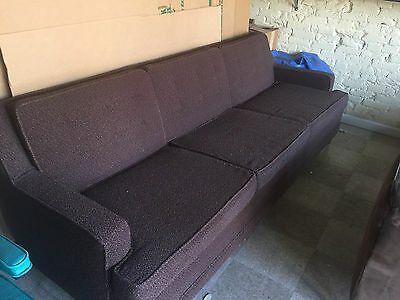 Mid Century Modern, Retro, Vintage Frieze Fabric Sofa Couch