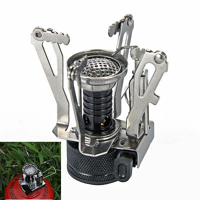 Portable Outdoor Picnic Gas Burner Foldable Camping Mini Steel Stove Case OS348