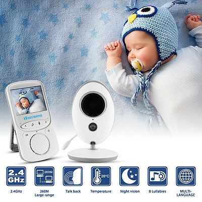 """2.4"""" Baby Monitor Color LCD Audio Talk Night Vision Wireless Digital Video HS840"""