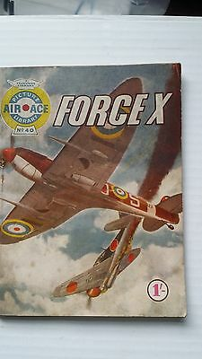 Air Ace Picture Library #40 Force X Fleetway 1961 Comic