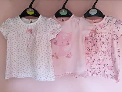 Baby girl tops x3...George. 3-6 months