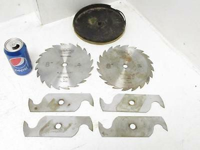 "Oldham Saw Co. Dado Stacked 6 Blade Set Blades 8"" Dia. 5/8"" Arbor 1/8"" to 13/16"""