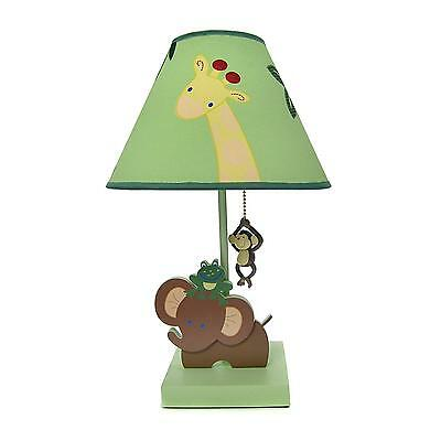 Jungle Babies Lamp Shade Light Nursery Animal Monkey Giraffe Kids Elephant New