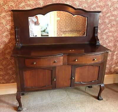 Antique Mahogany Dresser Sideboard With Mirror