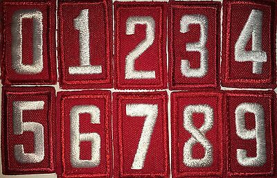 Bsa Embroidered Red Or Tan Troop Number - Choice Of Number/quantity Used