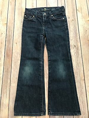7 For All Mankind Little Girls Blue Jeans Size 5 Adjustable Waist #41SS