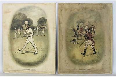 Pair of Edwardian Coloured Lithographs, featuring Johnnie Walker, by Tom Browne
