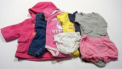 Lot of 8 baby girl winter clothes 3 3-6 months baby gap jeans red sox bodysuit