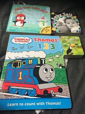 baby books bundle Including Thomas & Friends 123 (4 Items )