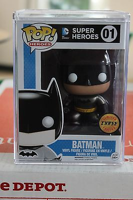 Funko DC Superheroes Batman 01 Chase Metallic w/ Pop Stack
