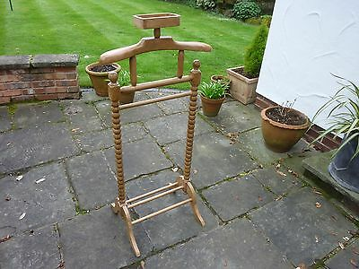 antique pine mens clothes valet/stand/rack
