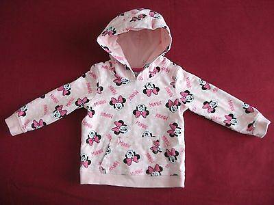 Baby Girls Minnie Mouse Hoodie Size 18-24 Months