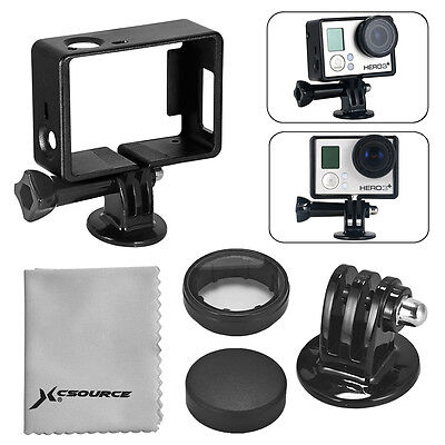 Frame Mount Housing Protective Shell+ Tripod Adapter per GoPro Hero 3 3+ 4 OS253