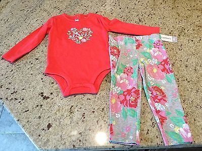 Carter's Baby Girl Outfit Size 18 Months. NWT