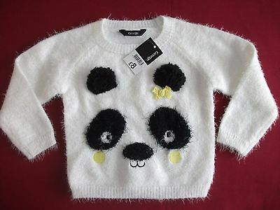 Baby Girls Panda Jumper Size 18-24 Months - New With Tags