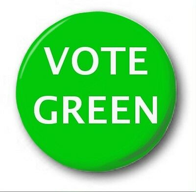 """VOTE GREEN PARTY  - 25mm 1"""" Button Badge - Novelty Election Brexit"""
