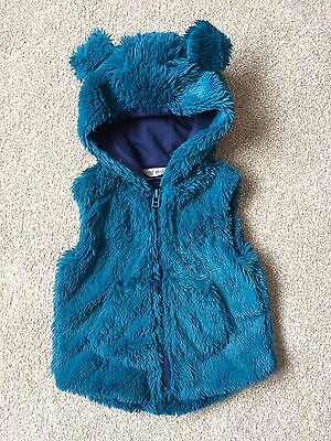 Next Baby Girls Fluffy Furry Gilet Body Warmer Size 12-18 Months