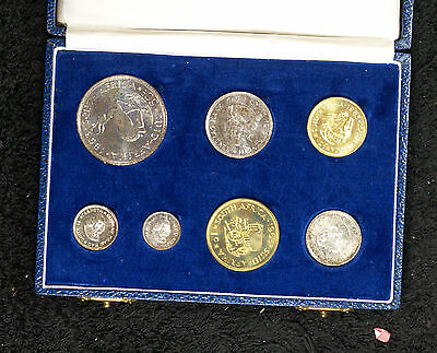 1963 South Africa 7 Coin Proof Set - Nice original set in original mint box
