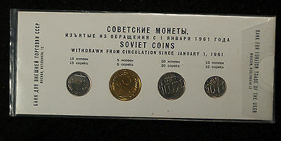 1957 Soviet Union Mint Set - Beautiful Uncirculated Coins!!