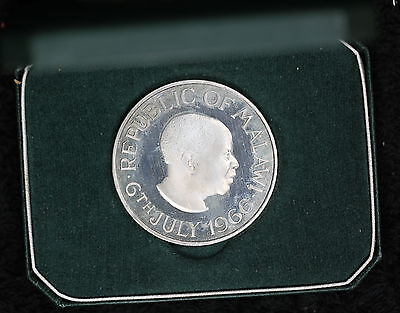 1966 Republic of Malawi Proof One Crown in original mint box