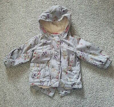 Baby girls Next jacket parka age 6-9m