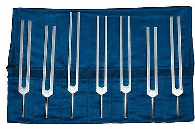 Chakra Tuning Forks Set - 7 Tuning Forks with Pouch