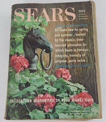 Vintage 1962 Sears Roebuck & Co. Spring / Summer Department Store Catalog Book