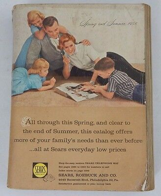 SEARS CATALOG 1958 SPRING/SUMMER 1400 pages Mail Order Style Magazxine Book RARE
