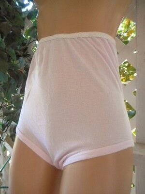 Vintage 1960's Pink Cloud Soft Poly Cotton Granny Panty Brief Xl