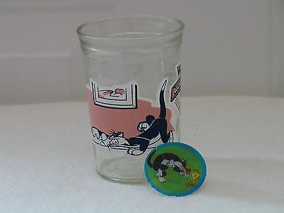 Welch's Jelly Jar Glass - Looney Tunes #3 - Sylvester & Tweety - 1994