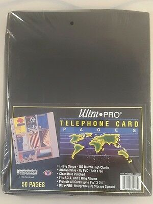 Ultra Pro Telephone Card Pages x50  1995