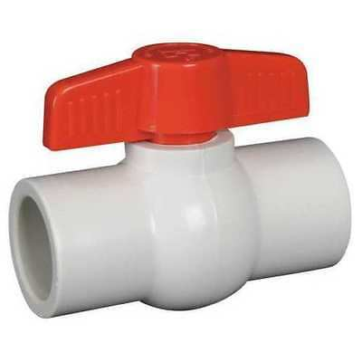"PVC Ball Valve Inline 1-1/2"", QVC1015SSEW HIGH QUALITY WHITE 1.5"" inch 1 1/2"""