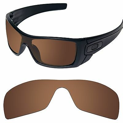 Tintart Polarized Replacement Lenses for-Oakley Batwolf Sunglass Nut Brown (STD)