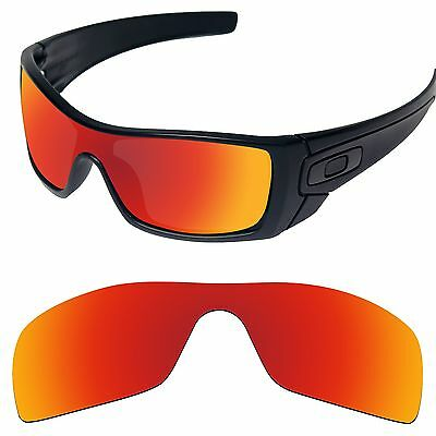 Tintart Polarized Replacement Lenses for-Oakley Batwolf Sunglass Fire Red (STD)