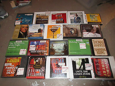 Lot of 20 Audiobooks on CD - Great Variety!