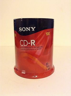 NIP Sony CD-R 80 Min CD Recordable 700 MB 100 CD Spindle Discs Music Record