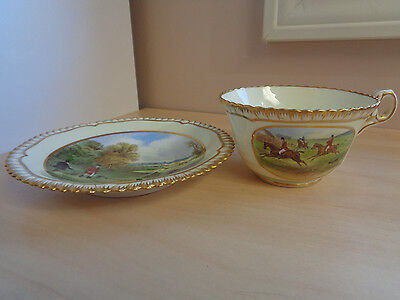 Mint Vintage Spode Fox Hunt Cup and Saucer