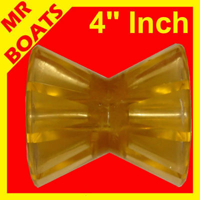 """4"""" (100mm) WINCH POST BOAT TRAILER ROLLER POLYURETHANE YELLOW ✱ NEW ✱ Bow Roller"""