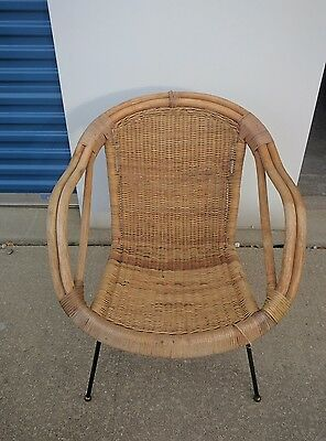 calif asia rattan chair mid century modern Wicker & CALIF ASIA RATTAN chair mid century modern Wicker - $299.99 | PicClick