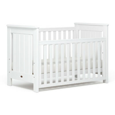 Boori Plaza Baby Cot Toddler Bed White